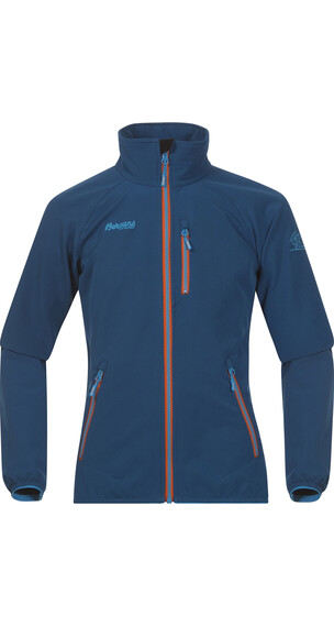 Bergans Youth Kjerag Jacket Dp Sea/Br Sea Blue/Koi Orange